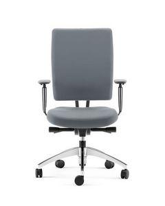 PROGRESS, Halbdirektionaler Sessel mit Aluminium-Unterstützung