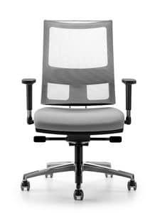 ALLYNET 1777, In elastischem Mesh Stuhl mit Rücken, für das Büro
