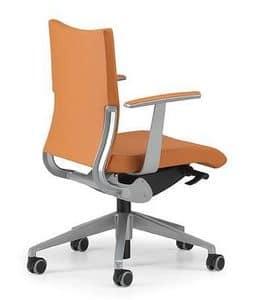 AVIA 4001, Bürostuhl Polsterbasisauf Rollen und Armlehnen
