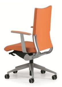 AVIA 4011, Gepolsterter Stuhl für Aufgaben im Büro, mit Rädern