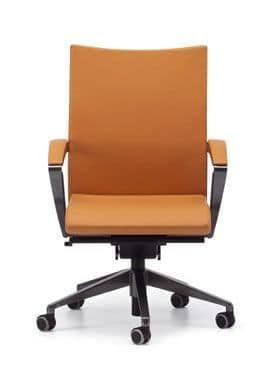 AVIA 4014, Moderne Bürostuhl mit Rollen auf der Basis