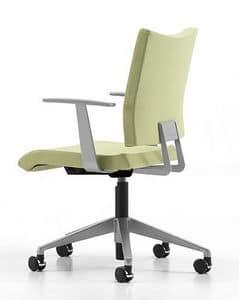 AVIAMID 3442, Gepolsterter Stuhl mit Armlehnen, modernen Büro