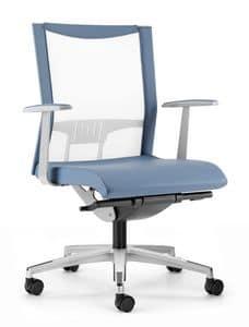 AVIANET 3602, In elastischem Mesh Stuhl mit Rücken, für das Büro