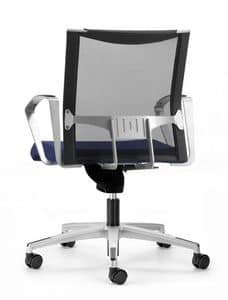 AVIANET 3654, Operativen Bürostuhl mit Rollen und Netzrücken