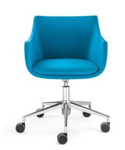Day&Night Plus, Gepolsterter Sessel auf Rädern