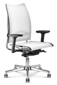 Flash, Bürostuhl mit hoher Rückenlehne mit ergonomischer Netto