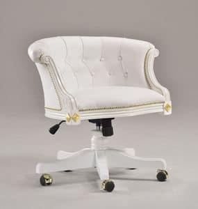 HILTON bürosessel 8664A, Bürostuhl im klassischen Stil, mit eleganten Dekorationen