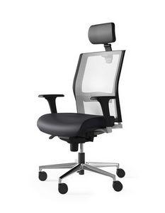 JEX, Bürostuhl für Büro mit Kopfstütze
