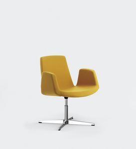 JOLLY, Metallstuhl, gepolsterter Sitz und Rückenlehne, für Tagungsräume oder Konferenz