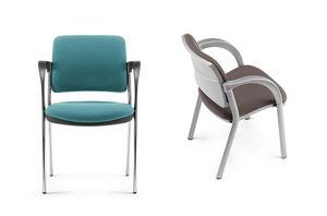 LULÙ / LULÙ SILVER, 4 Beine warten Stuhl, schwarz Chrom und grau endet