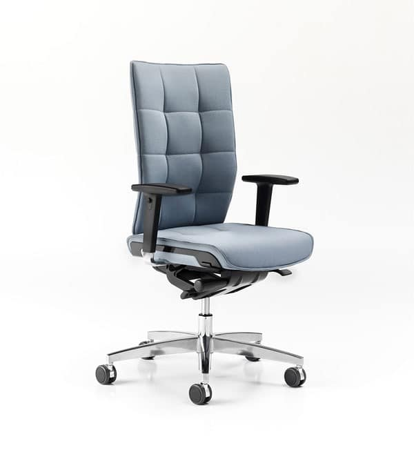 ergonomische arbeitsstuhl armlehnen drehelement f r das b ro idfdesign. Black Bedroom Furniture Sets. Home Design Ideas