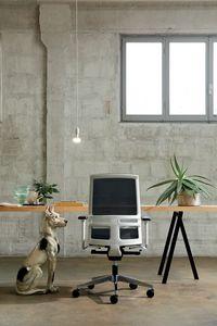 Omnia White 01, Bürostuhl mit weißer Struktur
