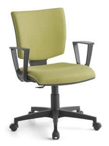 Pole 02 CP, Betriebspolsterstuhl mit Armlehnen, für das Büro