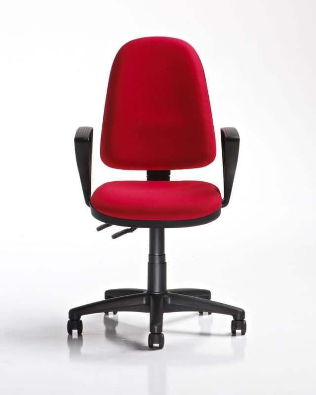 Ring, Stuhl mit Rollen und Armlehnen, Gas-Lift
