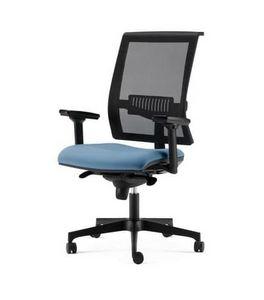 TECNA, Stuhl mit Netzrücken, mit verstellbaren Armlehnen