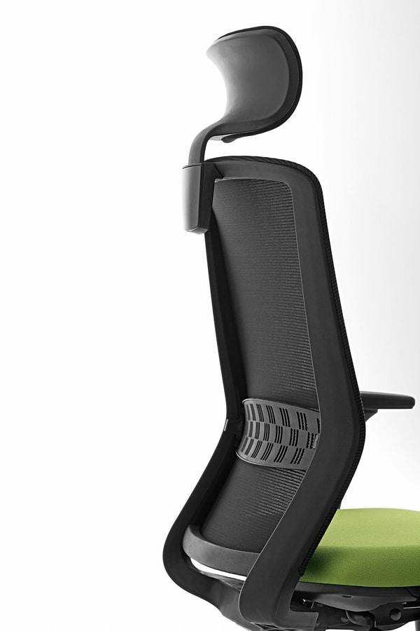 Tekna 01 PT, Bürostuhl mit Kopfstütze