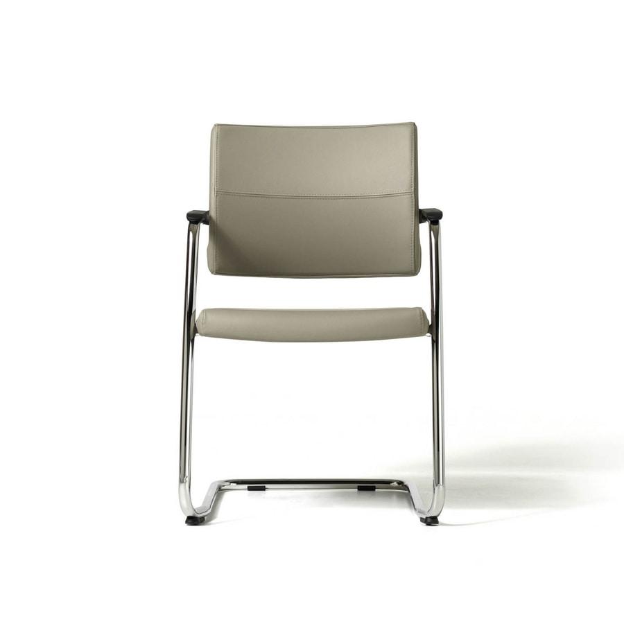 Venus chair, Besucherstuhl für Kunden, Chromrahmen, stapelbar