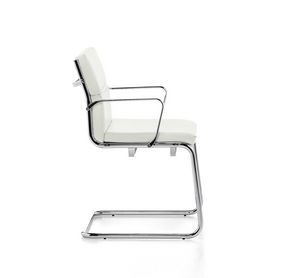Aalborg Soft 03, Besucherstuhl, verchromtem Stahlrohr, für das Büro