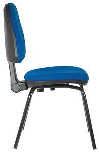 Ariel 4 Beine, Gepolsterter Stuhl für Bürogäste