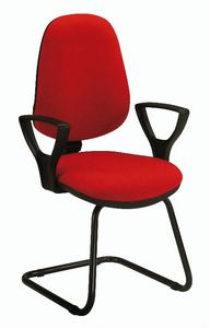 Bug V 316, Stuhl für Bürobesucher, gepolstert