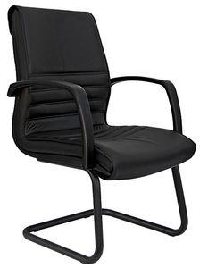 Dafne cantilever, Sessel für Bürobesucher, Leder- oder Stoffbezug