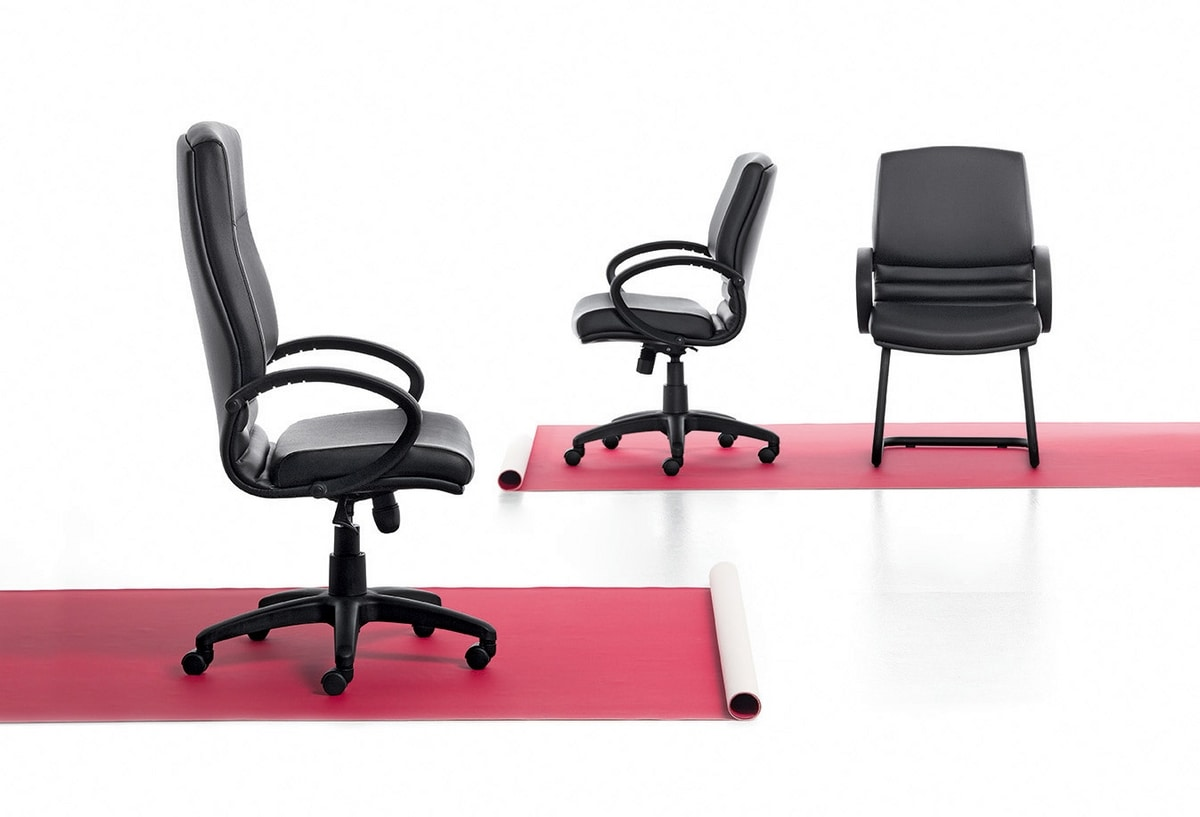 Digital 03, Schlitten-Stuhl, Gestell aus Stahlrohr, für das Büro