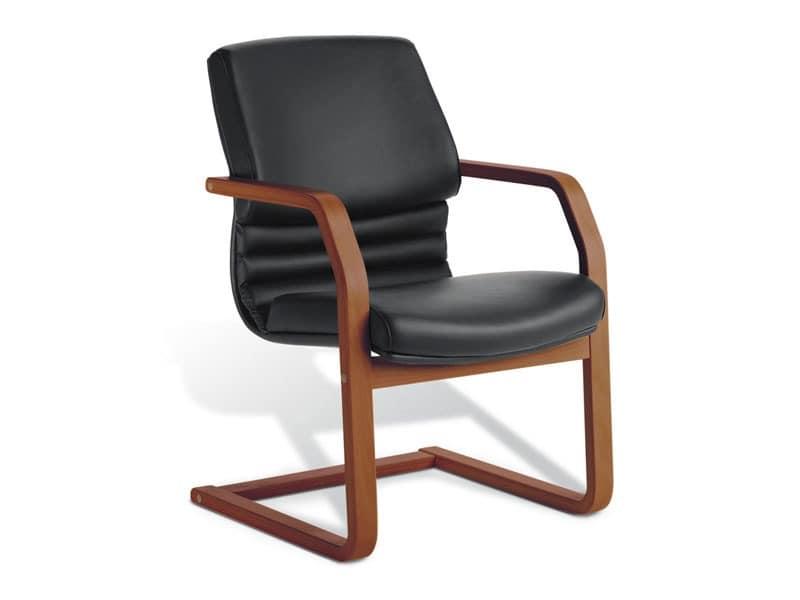 Digital Wood 03, Gepolsterte Besucherstuhl, Sperrholz, für das Büro