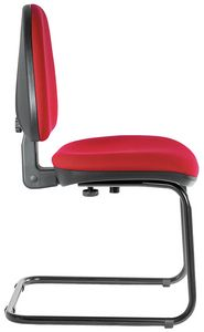 Ergovar cantilever, Gefüllter Stuhl für Büro, ohne Rollen