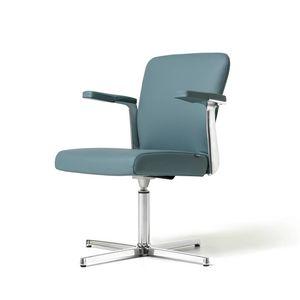 Halfpipe Besucher, Chair made in Italy, Metallsockel, gepolstert, verschiedene Versionen