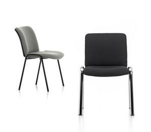Isotta 01, Gepolsterter Stuhl für Bürogäste