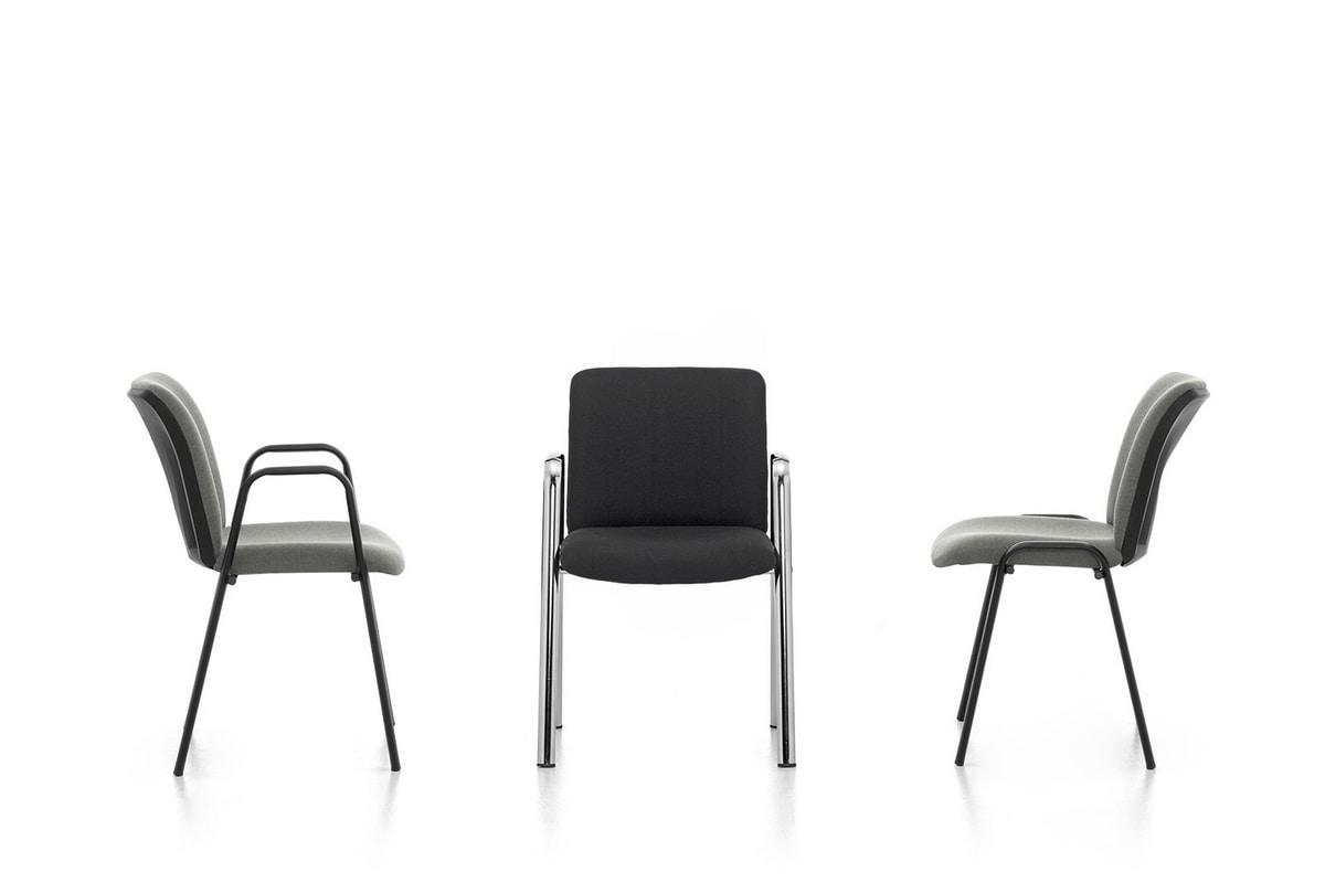 Isotta 02, Bürostuhl mit Armlehnen