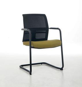Omnia Plus 05, Bürobesucherstuhl mit Netzrückenlehne