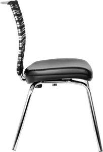 Prestige 4 Beine, Bürostuhl mit vier Beinen, Rückenlehne im Netz