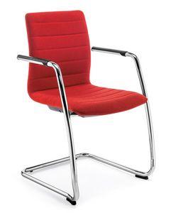Q2 IM, Gepolsterter Stuhl mit Freischwingergestell