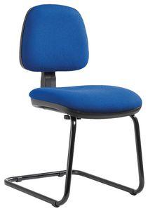 Sofia cantilever, Stuhl für Bürogast, mit verstellbarer Rückenlehne