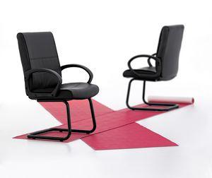 Texas 03, Stuhl auf Kufen für Büro, Mehrschichtstruktur