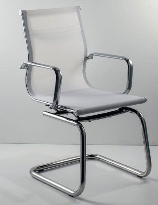 UF 559 / S, Moderner Stuhl auf Kufen mit Mesh- shell