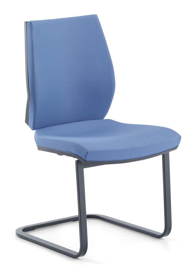 Venus 03, Besucherstuhl mit Sockel aus Stahlrohr, für das Büro