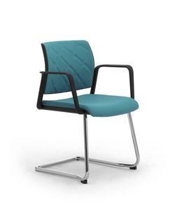 Wiki Tech relax, Chaise en porte-à-faux avec accoudoirs, avec dossier en rhombus