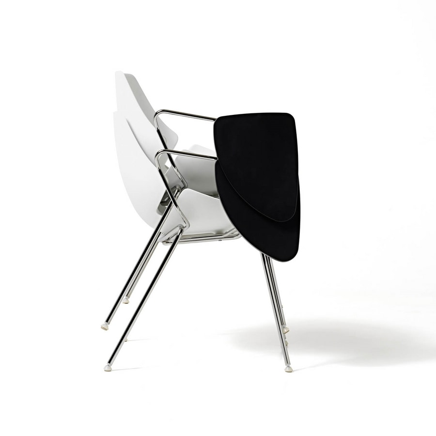 Eon 4 legs, Stuhl mit Schale aus Kunststoff, für Küche