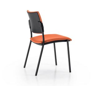 Glamour Easy 2256, Bürostuhl für Kunden, gepolstert