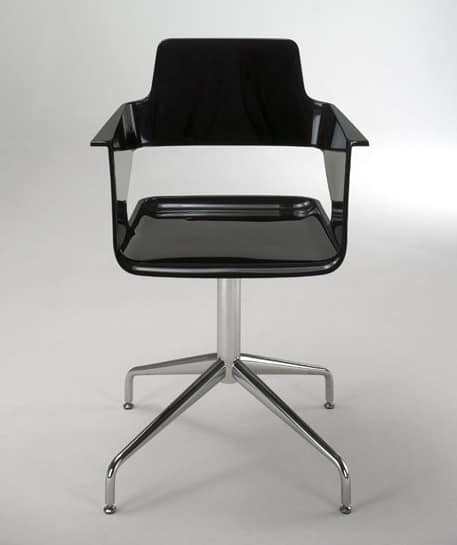 B32 SP, Drehstuhl, modernes Design, glänzendes Nylon -Shell