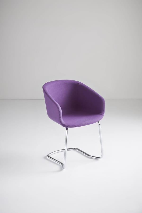Basket Chair CTL, Besucherstuhl, Metallsockel, Technopolymer Schale