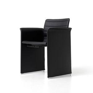 Mister, Gepolsterter Stuhl aus Sperrholz, für Büros und Besprechungsräume