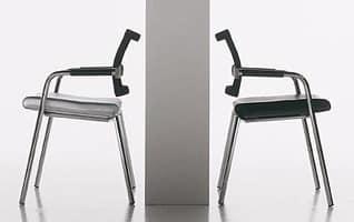 Star chair, Besucherstuhl für zu Hause und im Büro, in Stahl