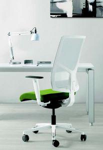 11522 Sax, Eleganter Bürostuhl mit weißer Basis