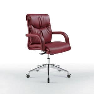 Angel niedrig, Bürostuhl mit niedriger Rückenlehne, auf Rädern