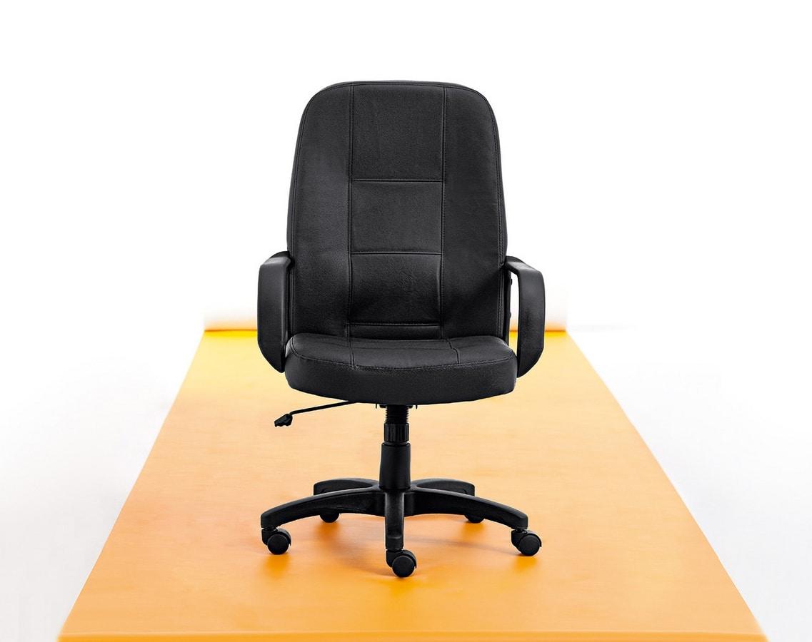 Canasta 01, Bürostuhl mit weichen Formen