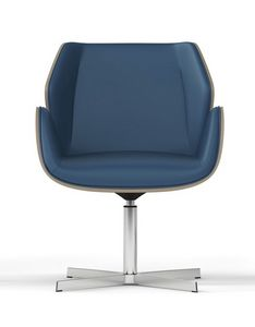 HAIKU WOOD, Drehbarer Sessel, Schale aus ästhetischem Finish in lackierter Eiche