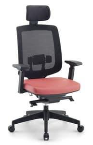 Jack 01 PT, Directional Bürostuhl, mit Kopfstütze